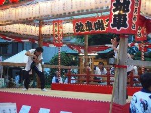 露天神社(お初天神)夏祭り-地車囃子