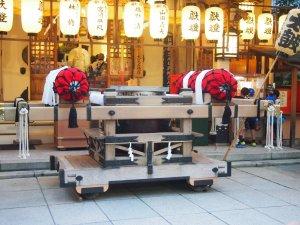 露天神社(お初天神)夏祭り-地車