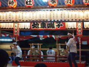 露天神社(お初天神)夏祭り-地車囃子再開