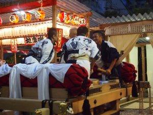 露天神社(お初天神)夏祭り-最終的には四人で!!