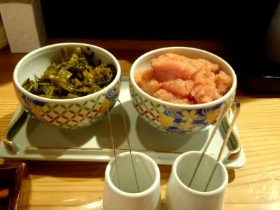 食べ放題の辛子明太子と高菜