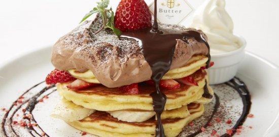 とろ~り生チョコソースのミルフィーユパンケーキ