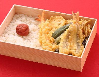 <ハゲ天>「日の丸」天丼弁当