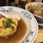 ハーフ天津飯とサバ醤油そばセット
