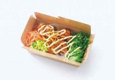 味噌マヨ鶏と5種の野菜のサラダライス
