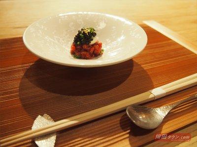 会津馬肉のタルタルステーキとキャビア