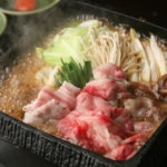 鹿児島県産和牛と紅豚のごかもんすき焼き