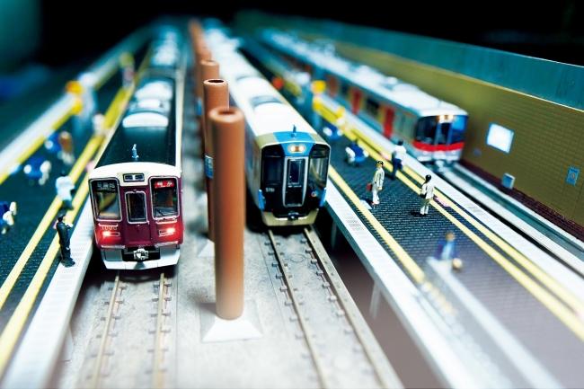 3私鉄が乗り入れる高速神戸駅のジオラマが登場